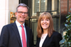 Andrew Hynard, chief executive of the Howard de Walden Estate, and RESI speaker Tracey Hartley