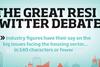 RESI Twitter debate