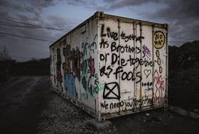 Jungle trash graffiti