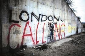 Jungle graffiti reading London Calling