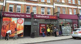 Sainsbury's store, south London