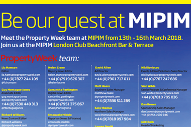 Mipim meet the team front
