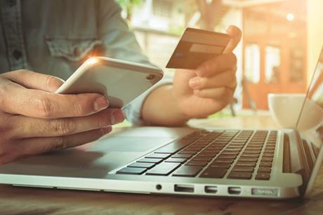 Ecommerce credit card laptop