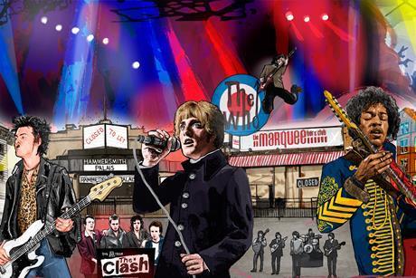 Music venues illustration
