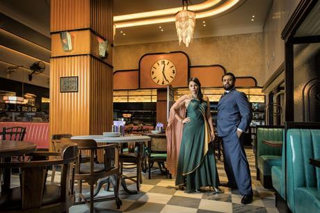 Night at the bombay roxy sophie khan levy and vikash bhai photo credit helen maybanks 2