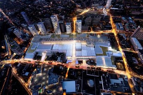 Westfield croydon development night scene