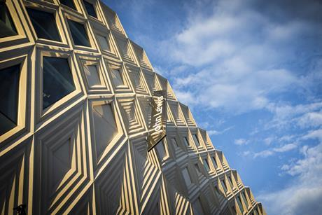 The John Lewis flagship in the scheme sports a criss-crossing design