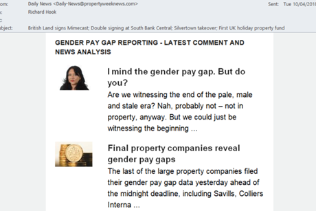 Gender pay gap newsletter