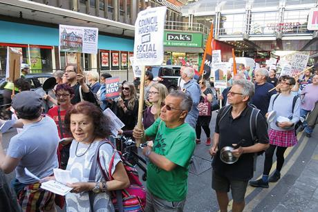 Anti-Haringey Development Vehicle protest march