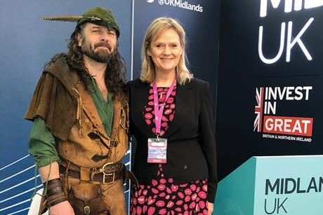 Robin Hood and Lorraine Baggs