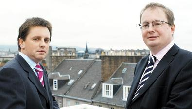 Noble men: Speedie (left) and Howie in Glasgow MBO