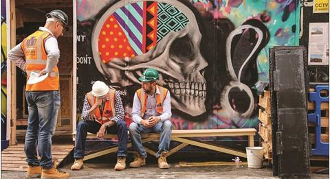 Construction workers foreign