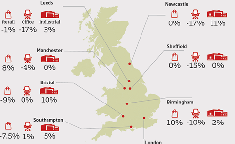 Business rate map UK