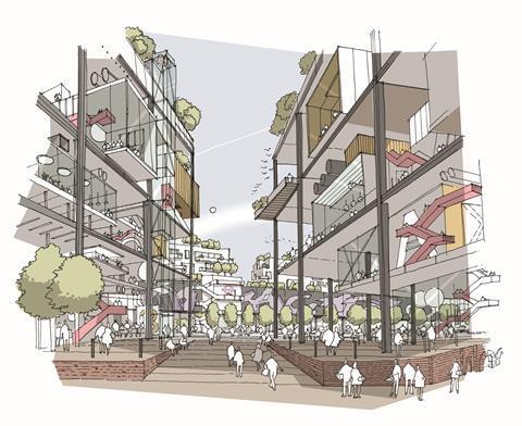 Hackney - Bishopsgate Goodsyard - rival plan