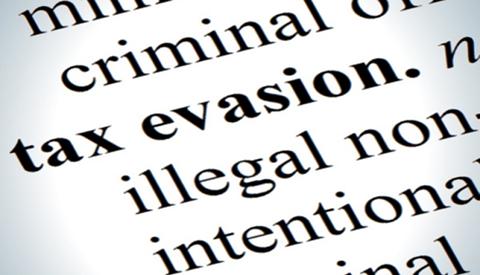 Tax evasion definition