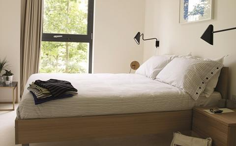 Typical bedroom in East Village apartment