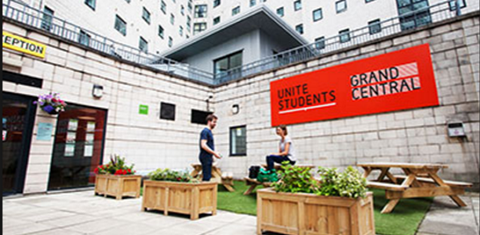 Unite Students accommodation at Grand Central in Liverpool