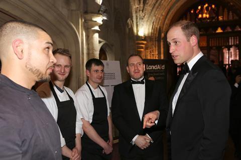 LandAid Gala Dinner Duke of Cambridge