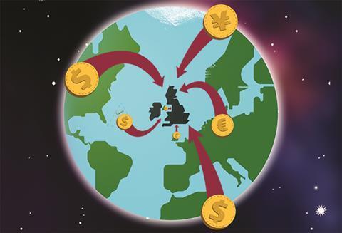 Overseas money illustration