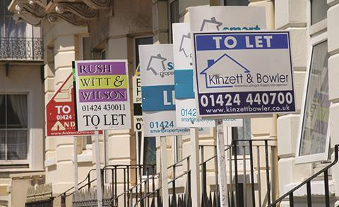 To let signs