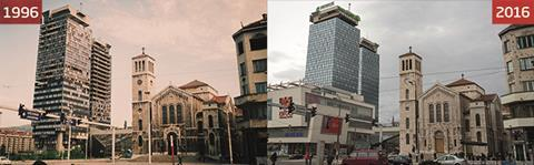 Unis Towers (1996) and Unitic Business Centre (2016), Sarajevo