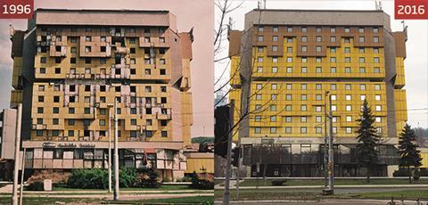 Holiday Inn (1996) and Hotel Holiday (2016), Sarajevo