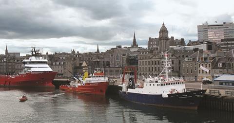 Aberdeen Harbour Scotland_