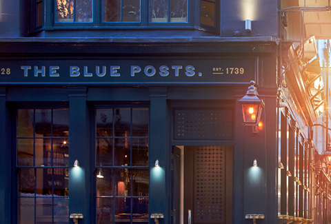 The Blue Posts exterior Keith Collie