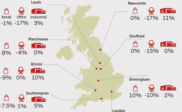 Business rates UK map
